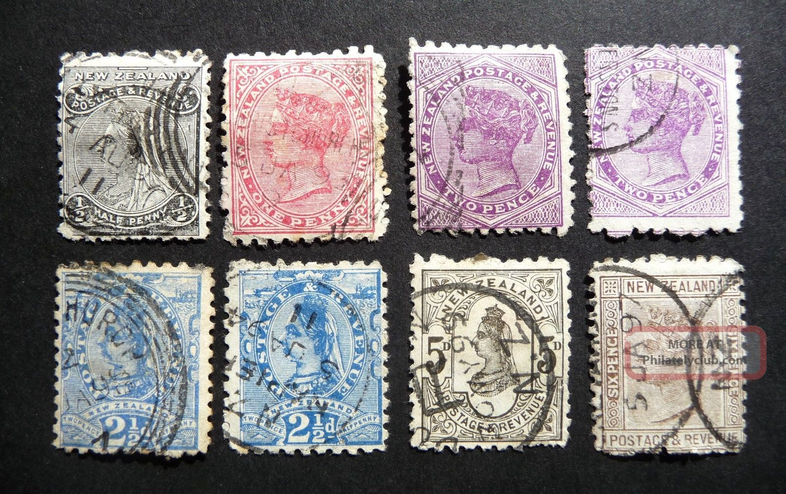 N Z Qvic 1891 - 97 Definitives Perf 10 Or 10 X 11 Compound As Seen Australia & Oceania photo