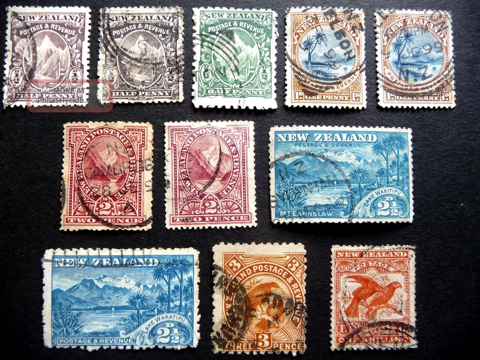 N Z Qvic 1898 - 1903 Pictorial Definitives No Wmk Sg246 - 50/57 ? As Seen Australia & Oceania photo