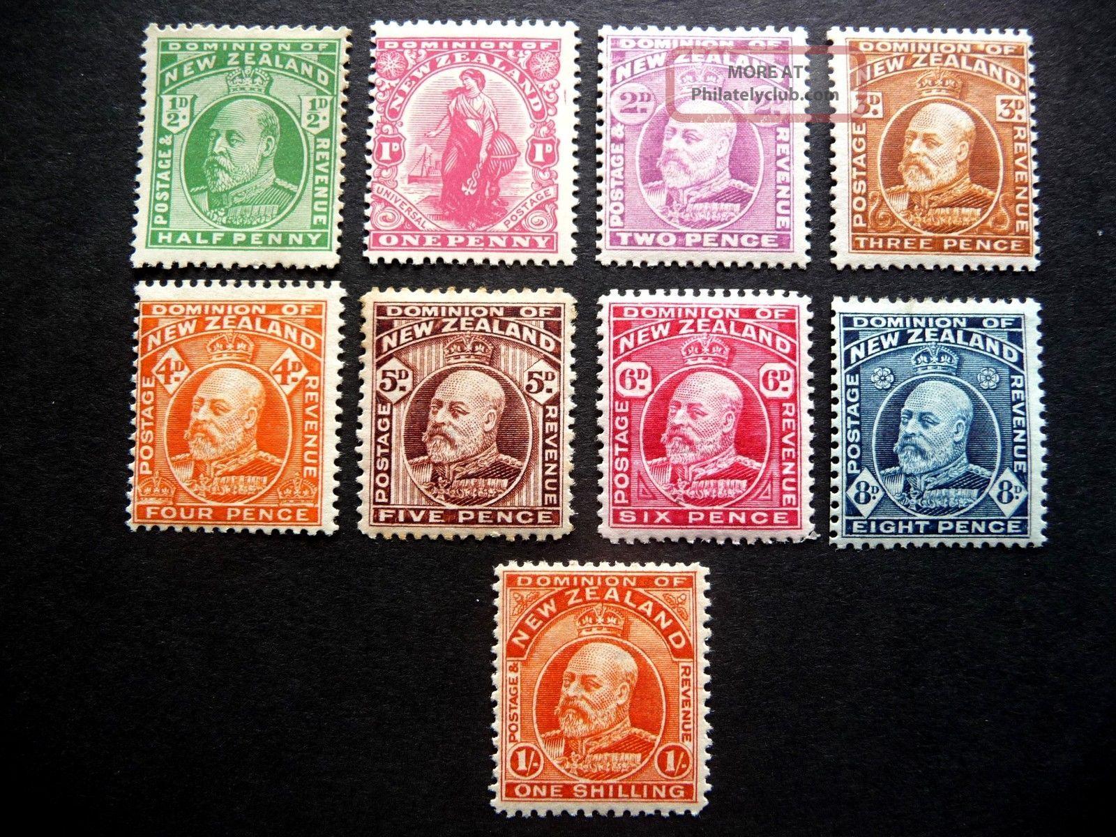 Zealand Kedvii 1909 Definitives As Seen M/m Australia & Oceania photo