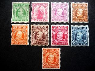 Zealand Kedvii 1909 Definitives As Seen M/m photo