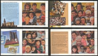 United Nations Vienna (u.  N.  /un) 1995 192a - 192d 50th Anniversary Booklet Panes photo