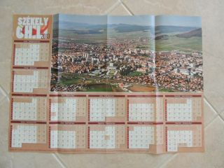 Szekelyudvarhely 2013 Kalendarium City View,  With Name Days, photo