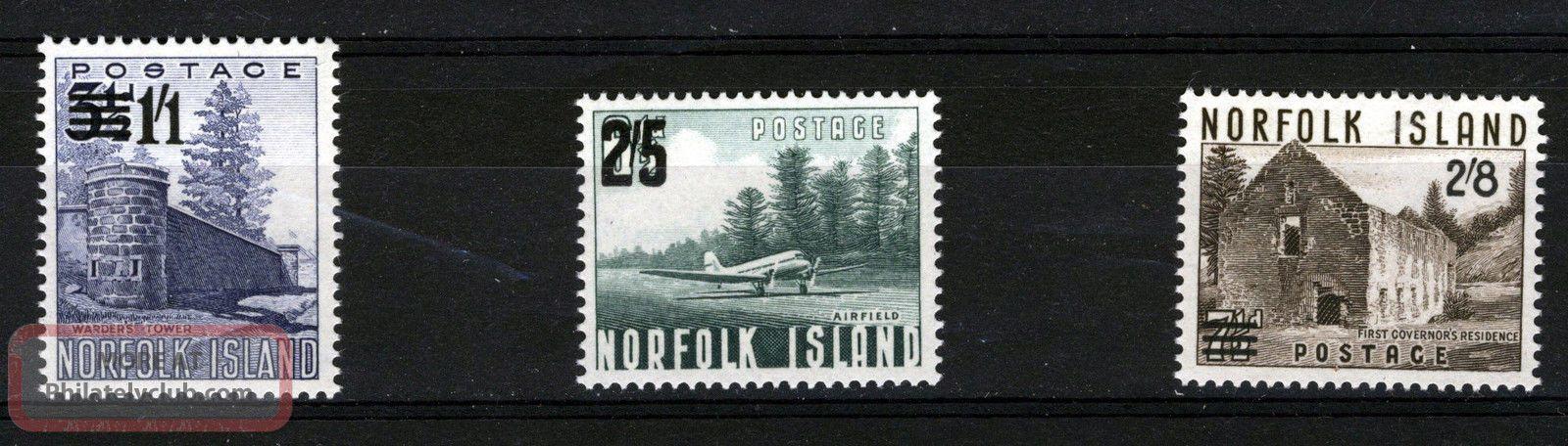 Norfolk Island 1960 Definitives Sg37/39 British Colonies & Territories photo