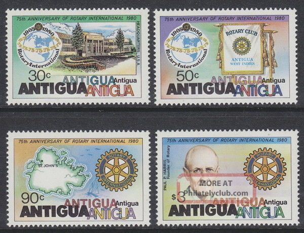 Antigua - 1980 75th Rotary (4v) Um / British Colonies & Territories photo