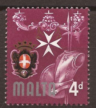 1965 Malta 4d Error Flaw Variety