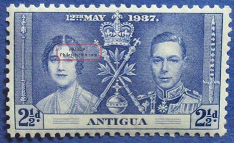 1937 Antigua 2 1/2d Scott 83 S.  G 97 Nh Cs04731 British Colonies & Territories photo